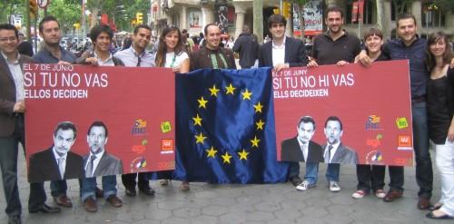 Europarako Koalizioko gazteek Bartzelonan